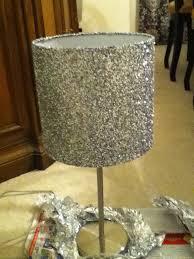 Diy Lamp Shades Awesome DIY LAMP SHADE Modge Podge Glitter Lampshade= Glittery Lamp Shade