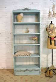 Painted Cottage Chic Shabby White Romantic French Bookcase / Dis
