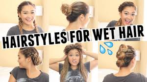 Bed Hair Style 6 easy hairstyles for wet hair youtube 7638 by stevesalt.us