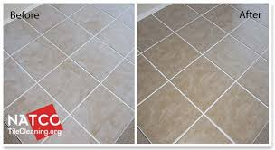 before and after removing grout haze