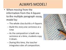 building essays building essays using the four square writing  when moving from the information from the 4 square to the multiple