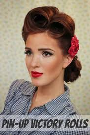 hair diy victory rolls a pin up hair tutorial by emily from the freckled fox