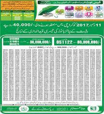 December 2, 2019 at 11:30 am. Premium Prize Bonds Results 40000 Karachi Held On 11 Dec 2017 Paki Mag