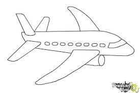 Airplane Drawing How To Draw A Simple Airplane Drawingnow