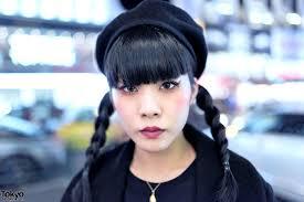 special effects makeup artist w handmade spiked eyeball purse braids tokyo bopper