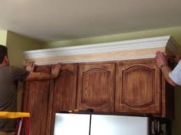 installing kitchen cabinet crown molding top commonplace kitchen cabinet trim moulding installation adding cabinets crown molding