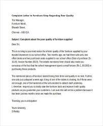 complaint letter samples poor quality complaint letter