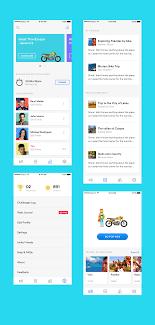 Mobile List View Design Shot7 Full Carousel Listview Flatui