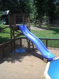 diy above ground pool slide perfect diy above ground pool slide easy step ladder swimming