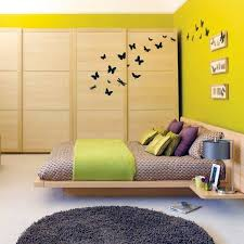sunny yellow green select bedroom wall color and make a modern feel