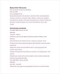 graduate babysitter resume babysitting sample resume