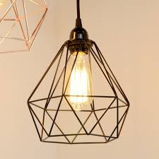 new industrial black cage light