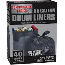 55 gallon drum lowes. Beautiful Lowes Contractoru0027s Choice 40Count 55Gallon Black Outdoor Construction Plastic  Trash Bag Inside 55 Gallon Drum Lowes N