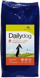 "<b>Корм сухой Daily Dog</b> ""<b>Puppy</b> Medium Breed Turkey and Rice"", для ..."