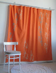 Orange And Gray Shower Curtains Shower Curtains Design