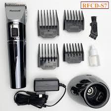 Tông đơ cắt tóc chuyên nghiệp - Tông đơ chạy pin - Tông đơ cắt tóc Rewell  S7 pin 2500mAh, lưỡi cắt titanium sắc nét - Dụng cụ làm đẹp Hãng rewell