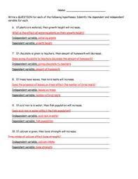 Middle School Scientific Method Worksheet | Science Materials ...