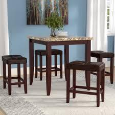 dejean 5 piece counter height dining set