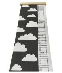 Children S Height Measurement Chart Nordic Children Height Ruler Canvas Hanging Growth Chart