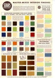 Sears Paint Color Chart 1950s And 60s Paint Colors From Sears Classic Harmony
