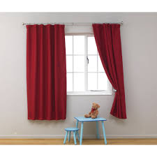 red blackout curtains kids