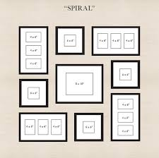 start by placing the center frame then spiral out the other frames make sure there is an even amount of space between all of the other frames and the