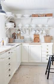 attachment impressive ideas funky kitchen white kitchen with open shelving and natural wood and woven accents