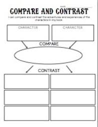 best compare and contrast ideas compare and compare and contrast characters organizer