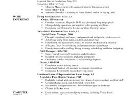 Waiter Objective Resume Resume Objective For Management