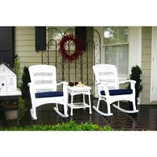 white resin rocking chair copper grove coastal white resin wicker outdoor plantation rocking chair and table