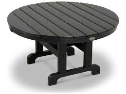 trex cape cod recycled plastic 36 round conversation table
