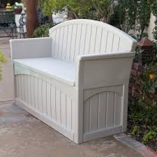 best gray painted plastic outdoor storage bench seat