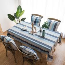 stripe waterproof decorative table cloth tablecloth dining table cover for kitchen home decor n l20
