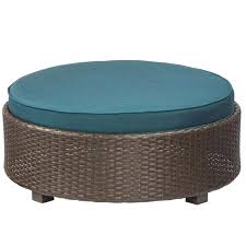 round outdoor ottoman bay wicker outdoor ottoman with cushion round rattan coffee table ottomans coffee table
