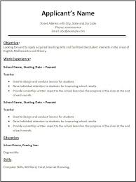 Teacher Resume Template Site Image Free Resume Templates For