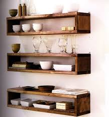 ... Floating Box Shelves Wall Square Dark Brown Stayed Rack Wide Space Thin  Strong Wooden Material Antique ...
