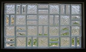 glass block window with multiple styles and sizes