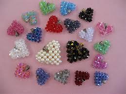 6mm swarovski crystal puffed heart