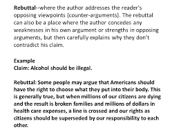an argument essay takes a stand on a controversial issue and  5 rebuttal where