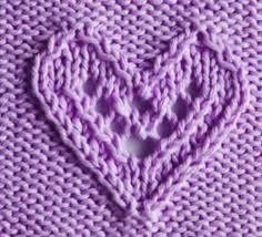 Knitted Heart Pattern Cool Tag Knitted Heart Patterns Knitting Kingdom