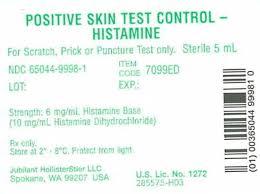 positive skin test control histamine fda prescribing  vial image