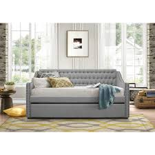 upholstered daybed with trundle. Brilliant Trundle Homelegance Daybeds Tulney Upholstered Daybed W Trundle  Item Number  4966A For With G