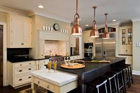 Copper Kitchen Lights Art Deco Elegant Kitchen Dining Room Decor With Black Kitchen