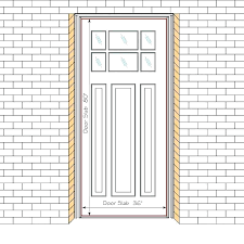 standard front door size post entry us rug sizes