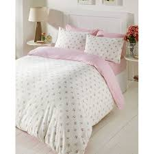 bedmaker molly pink fl brushed cotton flannelette duvet set