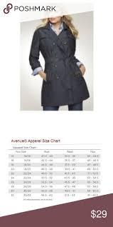 Avenue Plus Size Chart Avenue Trench Black Denim Womens Size 14w 16w Avenue