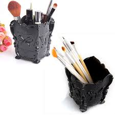 best cosmetic plastic makeup brush pen holder organizer conner storage box 2016 new rose red