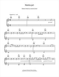 hallelujah piano sheet music hallelujah sheet music by alexandra burke easy piano 106184