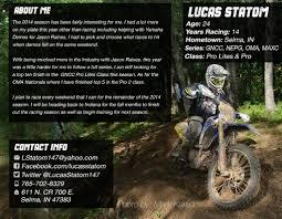 2015 Lucas Statom Sponsorship Resume