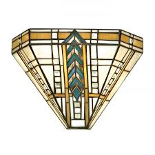 art deco reproduction lighting. lloyd tiffany glass wall washer light in art deco style reproduction lighting i